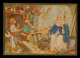 Noel Christmas Religion RAQUEL Peinture Paintings Postal Stationery Portugal 1943 CORUCHE SINTRA #9885 - Noël