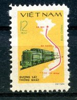 Vietnam, 1980, Telecommunication Day, Train, Locomotive, Railroad, Map, MNH, Michel 1124 - Viêt-Nam