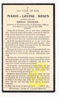 DP Marie L. Brion ° Wijtschate Heuvelland 1868 † 1933 X Henri Thorez - Images Religieuses
