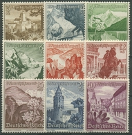 Deutsches Reich 1938 Winterhilfswerk WHW Ostmarklandschaften 675/83 Mit Falz - Deutschland