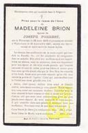 DP Madeleine Brion 18j. ° Warneton Waasten 1909 † Wijtschate Heuvelland 1927 X Joseph Forrest - Images Religieuses
