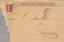 LSC - Entête MAIRIE DE TENIET EL HAD Et Cachet - Briefe U. Dokumente
