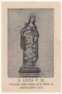 Santino Antico Santa Lucia Da Minturno - Latina - Religione & Esoterismo