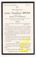 DP Jules Th. Brion ° Wijtschate Heuvelland 1887 † 1928 X Irma Cardinael - Images Religieuses