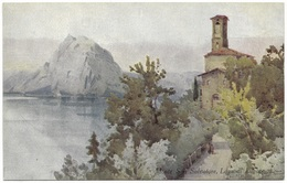 Monte San Salvatore Lago Di Lugano By Ella Du Cane Unused C1920 A&C Black Italian Lakes - Illustrators & Photographers