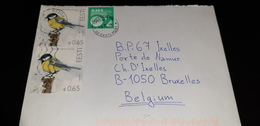 2scans EESTI Estonia 2016 Letter From Tallin To Belgium Europe Bird Birds Animal Fauna - Estonia