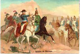 Chromo Grand Format. Napoleone I° - Napoleon Bonaparte. Bataille De Marengo. - Trade Cards
