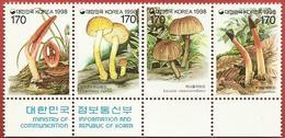 "South Korea- Fungi ""Mushrooms Imprint Strip"" - Korea, South"