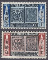 TRIESTE ZONA A - 1952 - Serie Completa Nuova MNH: Yvert 139/140; 2 Valori. - 7. Trieste