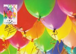 Australia 2014 Special Occasions.Balloons, Maximum Card - Maximum Cards