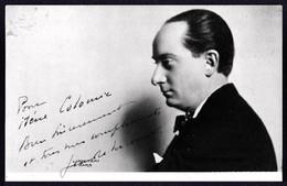 TEATRO ESPAÑOL - Director Teatral .... ? Autograph Dedicacee 1910's Photo PC By Boris Lipnitzki - Fotos Dedicadas
