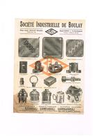 Société Industrielle De Bouley SIB Bouley Moselle - Paris - Coffret Borne Rosace Boite Raccord Douille... - Publicités
