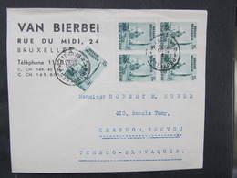BRIEF Bruxelles - Krasno Nad Becvou 1930 ///  D*37022 - Belgien