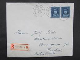 BRIEF Oostende - Caslav 1937 ///  D*37023 - Belgien