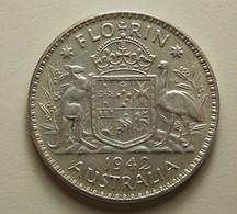 Australia 1 Florin 1942 Silver - Monnaie Pré-décimale (1910-1965)