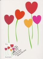 Australia 2014 Special Occasions.Heart Flowers, Maximum Card - Maximum Cards