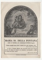 Santino Antico Madonna Della Fontana Da Torremaggiore - Foggia - Religion & Esotericism