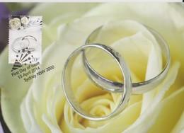 Australia 2014 Special Occasions.Silver Wedding Bands, Maximum Card - Maximum Cards