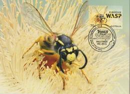 Australia 2014 Things That Sting,European Wasp, Maximum Card - Maximum Cards