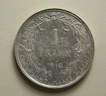 Belgium 1 Franc 1910 Silver - 1909-1934: Albert I