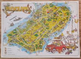 FLEVOLAND - Geografische Kaart - Map - Mappa - Carte Geographique -  VG - Paesi Bassi