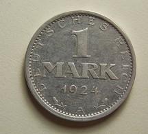 Germany 1 Mark 1924 A Silver - [ 3] 1918-1933 : Republique De Weimar