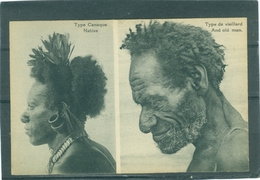 Canaque Et Vieillard - TBE - Papouasie-Nouvelle-Guinée