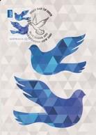 Australia 2015 Christmas,Blue Dove, Maximum Card - Maximum Cards
