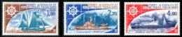 TAAF 1976 - Yv. PA 44 45 46 ** TB  Cote= 26,20 EUR - Bateaux D'expéditions Antarctiques  ..Réf.TAF21013 - Poste Aérienne
