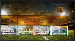 Bund MiNr. 3380/82 ** H-Blatt 52, Sporthilfe: Legendäre Fußballspiele - BRD