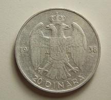 Yugoslavia 20 Dinara 1938 Silver - Yougoslavie
