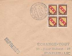 OBLIT. GF ILLUSTRÉE FOIRE EUROPÉENNE STRASBOURG 9/48 - Postmark Collection (Covers)