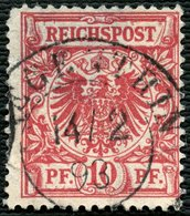 PREUSSEN, K2 REGENTHIN AUF DR 47, ZENTRISCH, AUS 1893, MARKE MÄNGEL, CV 12,- - Preussen