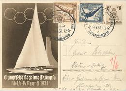 Olympia 1936 Berkin Ganzsache Reck Kiel Wasserspringen - Allemagne