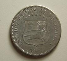 Venezuela 2 1/2 Centavos 1877 - Venezuela