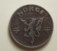 Norway 5 Ore 1942 With Defect - Norvège
