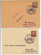 Germany Posen 1942 / Boxing Germany Croatia / Box Lander Kampf Deutschland - Kroatien / Black And Blue Cancel - Boxeo
