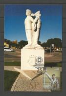 Portugal 2018 Postal Máximo Monumento Aos Combatentes Maximum Maxicard Faro Algarve Army Navy Militar - Militaria