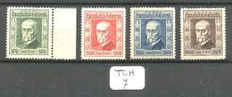 TCH YT 188/191 En Xx 188=bord De Feuille - Czechoslovakia