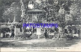 107889 FRANCE VERSAILLES PARK CAFFEE RESTAURANT OF THE FLOTTILLE OF THE CANAL HOUSE F. LECOMTE POSTAL POSTCARD - Sin Clasificación
