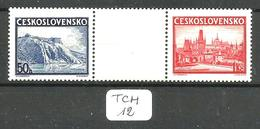 TCH YT 342 A + 342 B + Vignette En Xx - Czechoslovakia