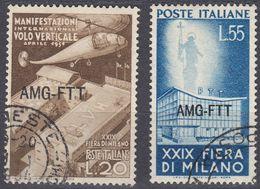 TRIESTE ZONA A - 1951 - Serie Completa Usata: Yvert 107/108; 2 Valori. - 7. Triest