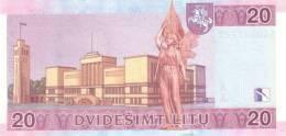 LITHUANIA P. 66 20 L 2001 UNC - Lituanie