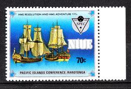 Niue - 1983. Le Navi Del Capitan Cook. - Barche