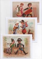 3 Figurine, Chromos Grand Format, 2 A La Ville De Paris. Soggetti Vari, Sujets Différents. APPEL AP 3-2-5 E 3-1-18/7 - Autres