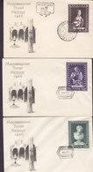 Poland Ersttags Briefe FDC Covers 1956 Internationale Museumswoche Madonna Leonardo Da Vinci Complete Set !! - FDC