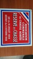 PLAQUE ACCA COLLECTION 1964 Association De Chasse 29x25 Cm  RougeOMIREO - Pop Art