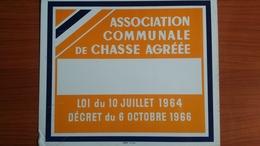 PLAQUE ACCA COLLECTION 1964 Association De Chasse 29x25 Cm  Orange OMIREO - Pop Art