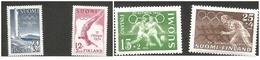 O) 1952 FINLAND-SUOMI, XV OLYMPIC GAMES -HELSINKI -STADUM SCT B112-RUNNERS SCT B113 -DIVER B110 - SOCCER PLAYERS SCT B11 - Finland