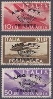 TRIESTE ZONA A - 1948 - Posta Aerea, Serie Completa Usata Di 3 Valori: 12A/12C. - 7. Triest